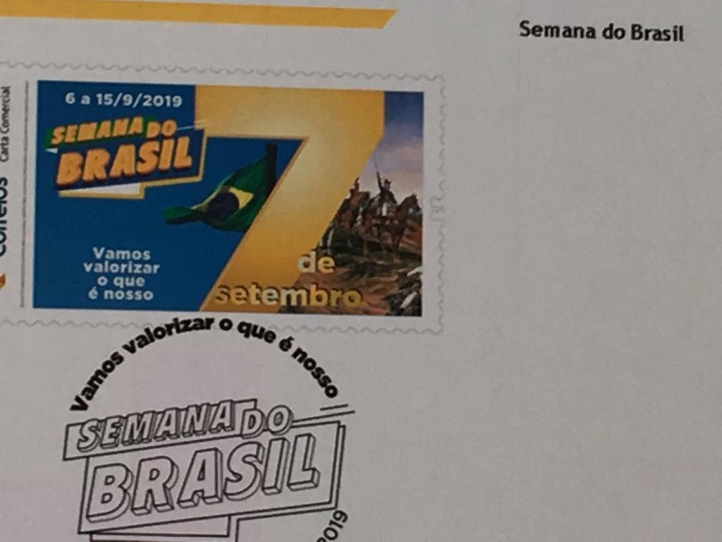Correios lançam selo em homenagem à Semana do Brasil